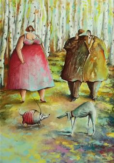 ilustracja, rysunek, pastele, scenka rodzajowa Painting, Art, Art Background, Painting Art, Kunst, Paintings, Performing Arts, Painted Canvas, Drawings