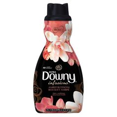 Ultra Downy Infusions Amber Blossom Liquid Fabric Softener and Conditioner 41 FL Oz Diy Home Cleaning, Cleaning Items, Household Items, Cleaning Hacks, Downy, Fabric Softener, Laundry Detergent, Bottle Design, Label Design