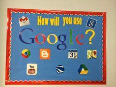 A Techy Teacher with a Cricut: Computer lab bulletin board for Google