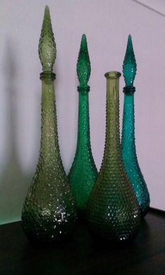 Green genie bottles