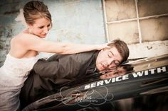 As our one year anniversary approaches, I think this is one of my favorites. #wedding #police #unique