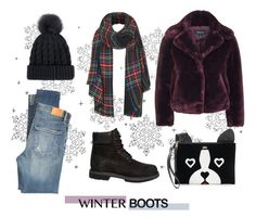 """32"" by favorite-cake ❤ liked on Polyvore featuring Topshop, Timberland, Citizens of Humanity, Juicy Couture and winterboots"