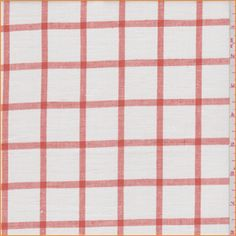 Orange  White Woven Plaid Linen FabricBeautiful yarn dyed light weight pure linenCompare to $20.00/yd