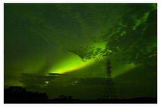Green skies over Manitoba