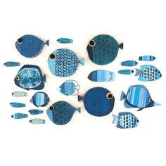 New fish 🐠🐟🐡 Fish Wall Art, Fish Art, Ceramic Fish, Ceramic Art, Starfish Wall Decor, Wood Fish, Fish Sculpture, Creation Deco, Paperclay