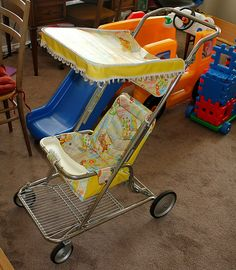 Many happy days pushing my nieces and nephews around in one of these ...