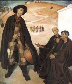 Diego Rivera (Mexican - The Old Ones 1912 - Oil on Canvas - Museo Dolores Olmedo Patiño Mexico City Diego Rivera Art, Diego Rivera Frida Kahlo, Frida And Diego, Statues, Mexican Artists, Latin Artists, Mural Painting, Paintings, Art Google