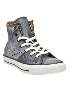 Convers leather moto sneaker