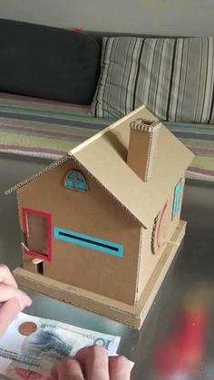 Diy Crafts For Gifts, Easy Crafts For Kids, Diy Home Crafts, Diy Crafts Videos, Creative Crafts, Diy For Kids, Fun Crafts, Paper Crafts Origami, Cardboard Crafts