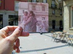 Buscar fotos antiguas y cuadrarlas en los lugares en los que fueron tomadas. Ése ha sido mi ejercicio fotográfico del verano   Blog www.micasaencualquierparte.com