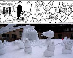 Who doesn't love Calvin and Hobbes snowmen?