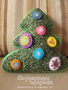текстильная елка игрушка