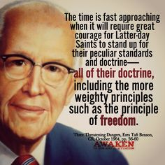 Stand For Freedom--- President Ezra Taft Benson Prophet Quotes, Gospel Quotes, Mormon Quotes, Lds Quotes, Great Quotes, Motivational Quotes, Uplifting Thoughts, Spiritual Thoughts, Inspirational Thoughts