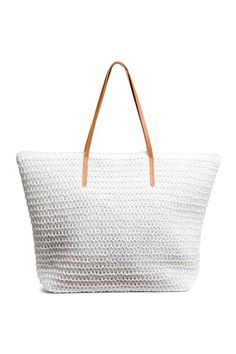 Bolso shopper - Blanco - MUJER   H&M ES