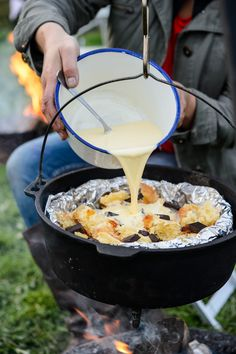 Dutch oven cooking - leftover brioche, marmalade & dark choc bread and butter puddings. Photo copyright Jason Ingram