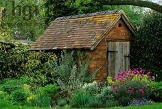 Simple, rustic and totally charming garden shed - lovely!