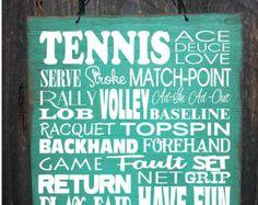 Tennis Decor Tennis Racquet Wall Art Inspirational Tennis