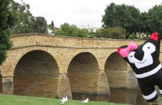 This is Doozie, she is visiting Richmond in Tasmania. Doozie is a little sister to Tassie. Richmond Bridge, Tasmania, Little Sisters, Softies, Places Ive Been, Island, Things To Sell, Islands, Stuffed Animals