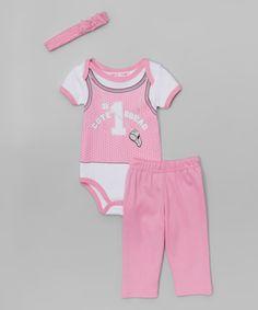Look at this #zulilyfind! Pink 'Cute Squad' Bodysuit Set - Infant #zulilyfinds