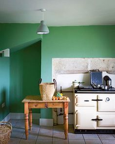 Farrow and Ball Breakfast room colour green paint