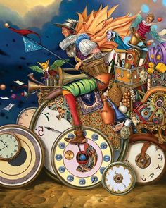 BECAUSE IT MADE ME PAUSE ~ As We Are Always Racing Against Time, And Getting Nowhere Real Fast . . . Aren't We?~ Artist Tomek Setowski. . .Bing Images