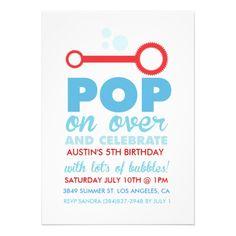 (Boy) Bubble Party Themed Birthday Invite from Zazzle.com
