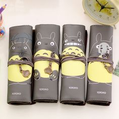 1 Pics Black School Pu Leather Roll Cartoon Pen Pencil Case Totoro Kawaii Cute Pencil Pouch Stationery Storage Organizer Supply-in Pencil Bags from Office & School Supplies on Aliexpress.com | Alibaba Group