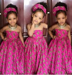 Longue robe pagne fillette #AfricanKidsFashion