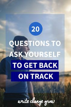 Feeling a bit lost? Need to get yourself back on track. Read 20 Questions to Ask Yourself to Get Back on Track. Self Development, Personal Development, Questions To Ask, This Or That Questions, Self Improvement Tips, Journal Prompts, Journal Ideas, Back On Track, Get Back