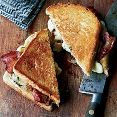 grilled cheese + bacon + cheese curds / food & wine