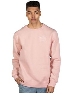 The Wave Crew Soft Pink Mens Fleece, Wave, Sweatshirts, Long Sleeve, Sleeves, Sweaters, Mens Tops, Pink, T Shirt