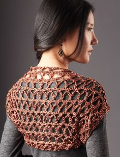 Touch of Shine Shrug,free pattern.