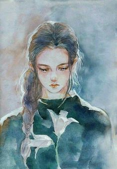 we miss you and your violin. Art Sketches, Art Drawings, Painting Of Girl, Anime Art Girl, Cute Art, Art Reference, Character Art, Fantasy Art, Watercolor Paintings