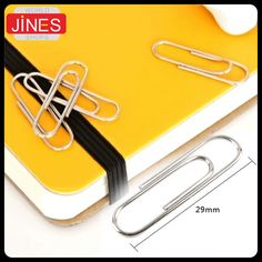 200pcs/set Thick plating surface Metal Paper Clips Office School Supplies stationery For Envelope Business card Material Escolar