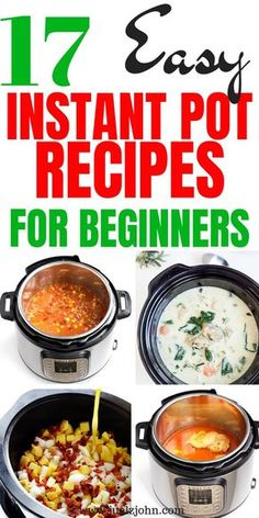 Healthy Instant Pot Recipes Perfect For Busy Nights. – juelzjohn Healthy Instant Pot Recipes Perfect For Busy Nights. – juelzjohn,Cooking Enjoy these 17 delicious and easy instant pot recipes for beginners Related posts:Birthday surprise. Best Instant Pot Recipe, Instant Pot Dinner Recipes, Instant Recipes, Instant Pot Meals, Instant Pot Pressure Cooker, Pressure Cooking, Instant Cooker, Recipes For Beginners, Cooking For Beginners