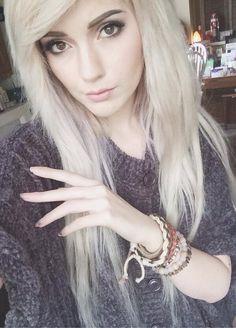 platinum white hair #leda #muir #ledamonsterbunny