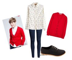 exo for Lotte Duty Free's 2014 Spring Pictorial [baekhyun] by chichi23 on Polyvore featuring moda, Zenggi, H&M and Charlotte Russe