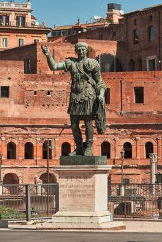 Bronze statue of emperor Caesar, Imperial Forums, Rome. Venice Travel, Rome Travel, Italy Travel, Italy Vacation, Verona Italy, Puglia Italy, Venice Italy, Ancient Rome, Ancient Greece