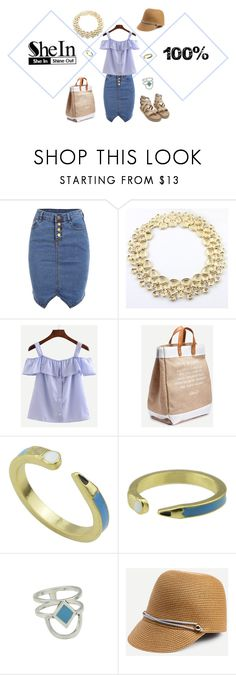 """""""SheIn Striped Blue Shirt Contest"""" by pam-arnold on Polyvore featuring shein"""