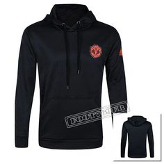 A++ Qualité Sweat À Capuche Training Foot Manchester United Noir 2016 2017 Thailande Nouveau :Foot769Fr