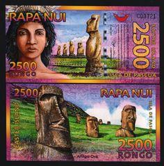 EASTER ISLAND 2500 RONGO NEW 2011- 2012 MASK UNC POLYMER NOTE BUNDLE LOT 25 PCS picclick.com