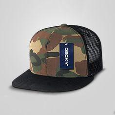 419e6430e5b DECKY Cotton Flat Bill Trucker Cap Mens Trucker Hat