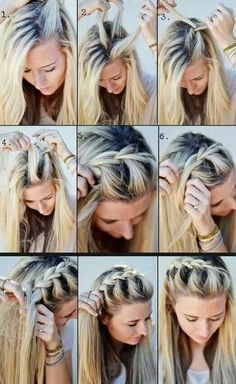 Top to side braid