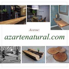 Estamos com site novo! Não deixe de conhecer, ele foi preparado para vocês com muito carinho 💚 Basta acessar azartenatural.com  Az arte natural - Peças em madeira, feitas a mão