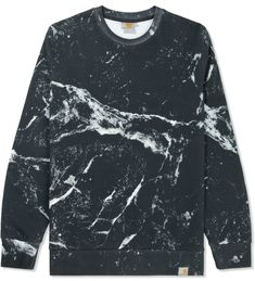Shop Carhartt Work In Progress Black Marble Print Sweater for Men at HBX Now. Free Shipping available.