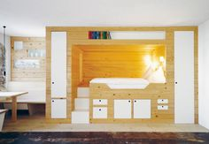 Living in a shoebox | Small 376ft2 apartment renovated with respect for its history #PerpetuumModule #промдизайн #дизайн #мебель #модули #трансформация #интерьер #design_of_furniture #design #productdesign #interior #module