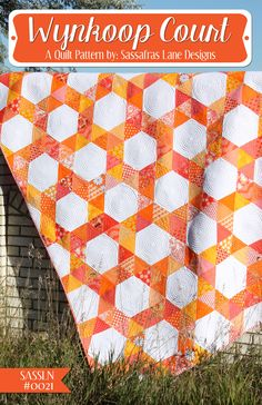 Wynkoop Court Quilt Pattern SLN-021 (advanced beginner, wall hanging, lap and throw, double/full)