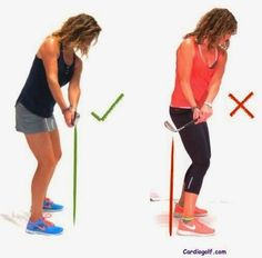 When you take a golf swing, remember to keep your hands and arms relaxed. The strength for your swing is not centered in the hands and arms. Your strength comes from your core muscles, your abdominals, and your back. Putting too  much force in your arms can ruin your swing. -- Be sure to check out this helpful article. #fit