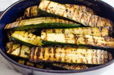 This easy Grilled Zucchini recipe requires just 5 ingredients (salt, pepper, and oil included!) and 20 minutes - for simple garlicky, lightly charred zucchini that can be made year-round. It's the perfect side dish for potlucks, BBQs, and grill season! Zucchini Dinner Recipes, Grilled Zucchini Recipes, Grilled Squash, Zucchini Side Dishes, Grilled Side Dishes, Potluck Side Dishes, Healthy Zucchini, Healthy Grilling Recipes, Healthy Eating Recipes
