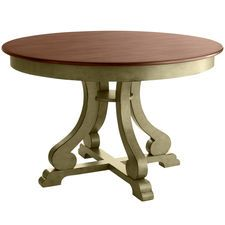 Marchella Round Dining Table - Sage from Pier 1... would like to refinish my table in these colors!